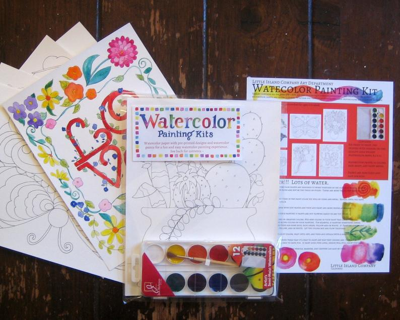 Watercolor Painting Kit ~ Variety Pack