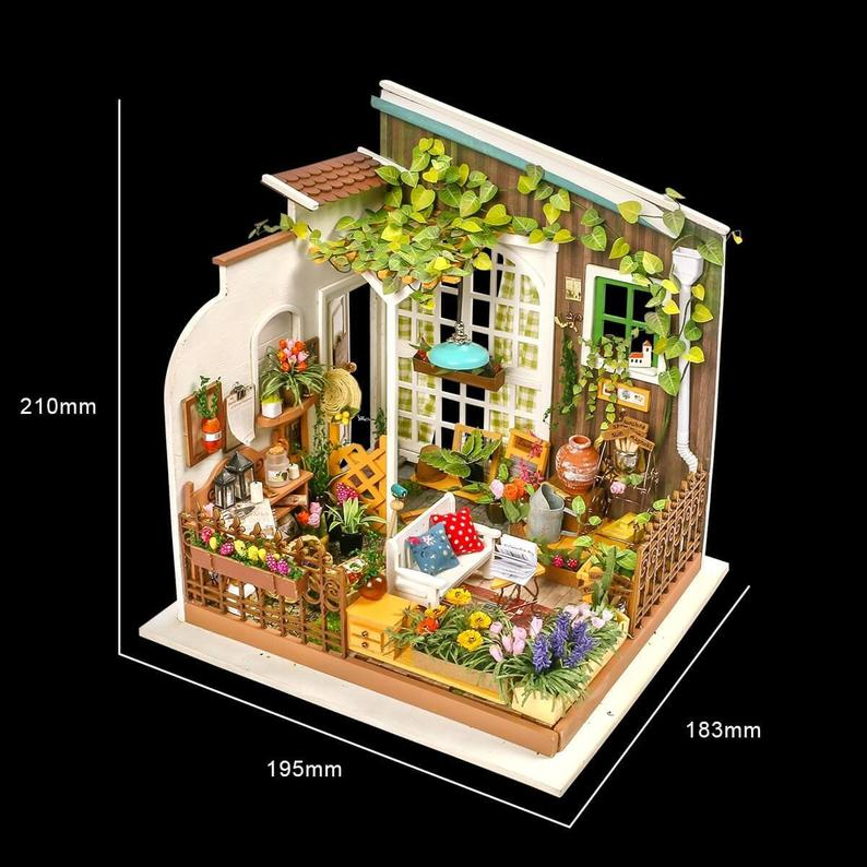 DIY Miniature Garden House Kit: Miller's Garden by Hands Craft