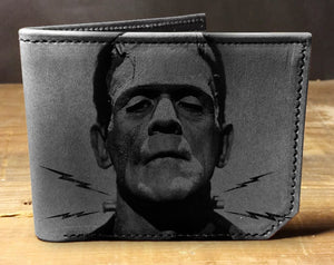 Open image in slideshow, Mens leather wallet, Mens wallet, frankenstein wallet, leather wallet, slim wallet, back to school, leather wallet mens, bifold wallet
