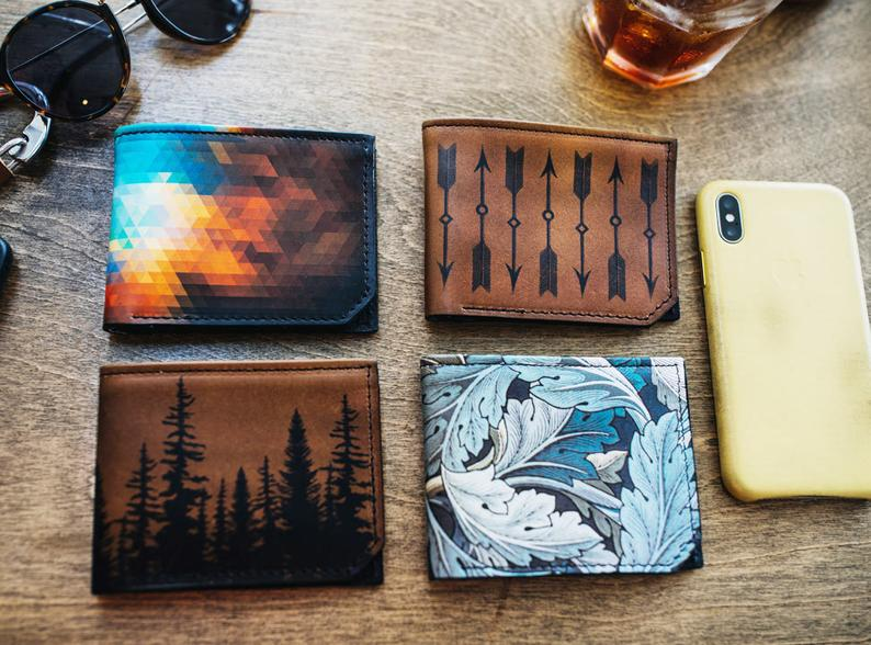 Mens leather wallet, Mens wallet, birds wallet, leather wallet, slim wallet, back to school, leather wallet mens, bifold wallet