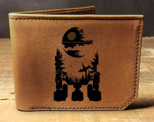 Open image in slideshow, wallet, leather wallet, mens leather wallet, star wars wallet, R2D2 wallet, Mens leather wallet, Mens wallet, leather wallet, slim wallet,