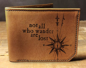 Open image in slideshow, Mens leather wallet, Mens wallet, wander wallet, leather wallet, slim wallet, back to school, leather wallet mens, bifold wallet