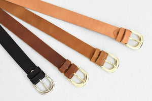 Open image in slideshow, Womens leather belt 1inch