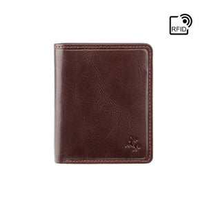 VISCONTI - Luxury Brown Leather Wallet with RFID Protection - Slim Wallet - Wallets for Men - Veg Tan Premium Leather - Gift Boxed