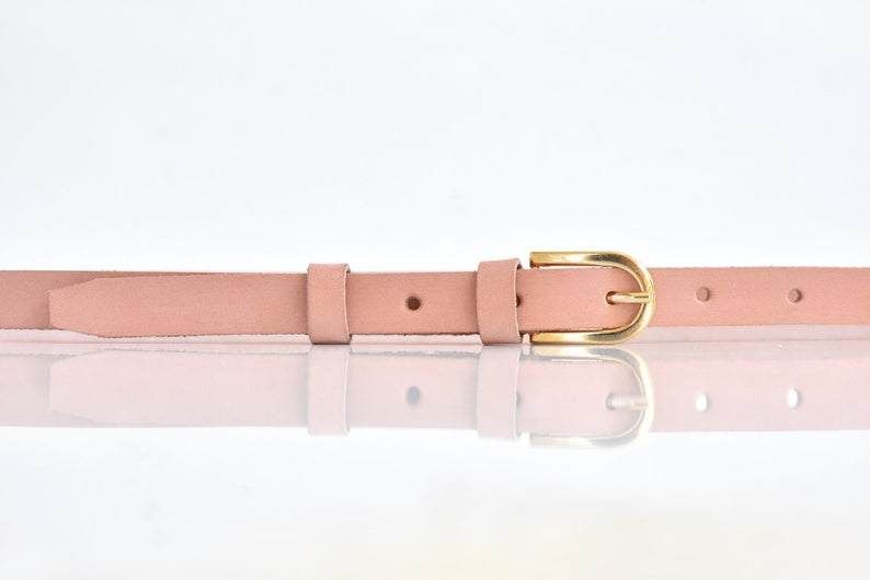 Leather belt handmade with finest quality genuine cowhide leather.
