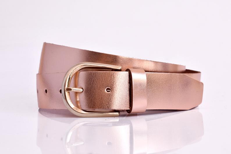 Womens leather belt 1.37inch