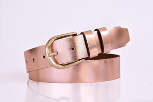 Open image in slideshow, Womens leather belt 1.37inch