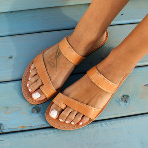 THELMA Women leather sandals ancient Greek leather sandals women flat sandals handmade sandals natural leather women sandals