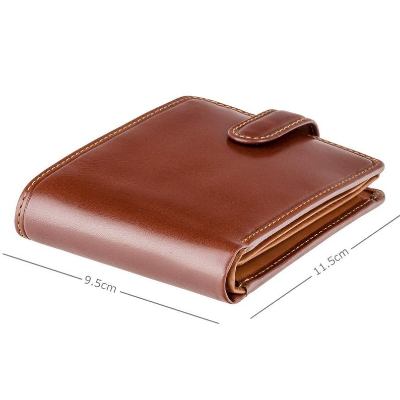 Atlantis by VISCONTI, Mens Large Wallet With ID Slots, Cash Compartment and Expandable Card Section - RFID Protected - Brown & Tan - TR35