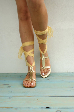 Open image in slideshow, AMARYLLIS GOLD sandals Greek leather sandals