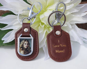 Picture Keychain, Custom Photo Keychain, Engraved Photo Keychain, Personalized Photo Keychain , Father's Day Gift, Double Sided Keychain - United Split