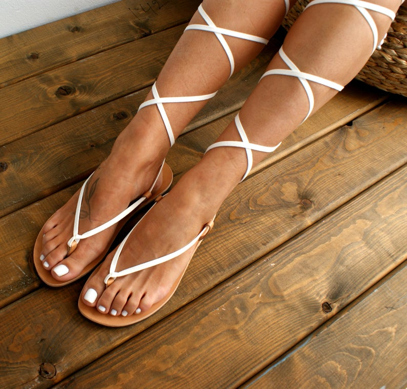 ARTEMIS genuine leather gladiator sandals