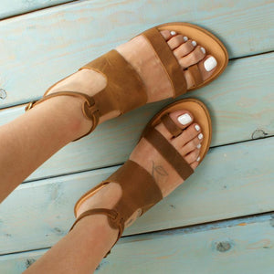 Open image in slideshow, ASTRA Greek leather sandals