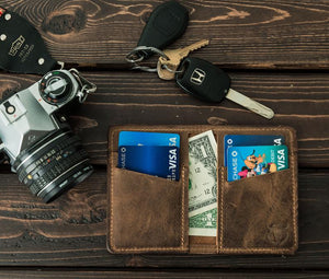 Open image in slideshow, Minimalist Leather Wallet