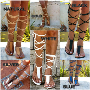 IRINI 3 leather gladiator sandals
