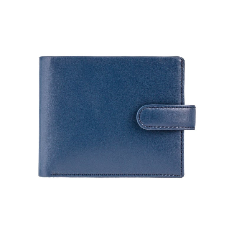 VISCONTI - Blue Mustard Leather Wallet with RFID Protection - Wallets for Men - Premium Leather - Handmade - PM100
