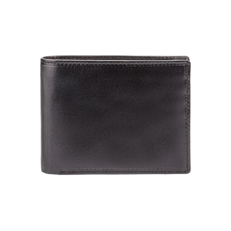 Black Luxury Leather Wallet With RFID - Card and Coin Wallet - Card Case - Veg Tan - Mens Wallet - MZ4 - Best Seller