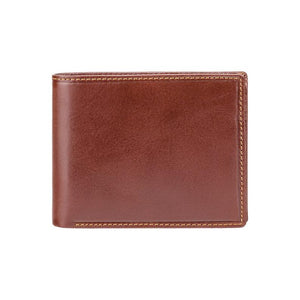 Brown Luxury Leather Wallet With RFID - Card and Coin Wallet - Card Case - Veg Tan - Mens Wallet - MZ4 - Best Seller