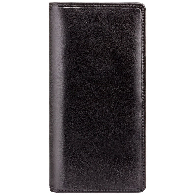 VISCONTI Italian Black Luxury Long Leather Wallet with RFID - Cash and Card Wallet - Card Holder - Jacket Wallet - Mens Wallet - MZ6