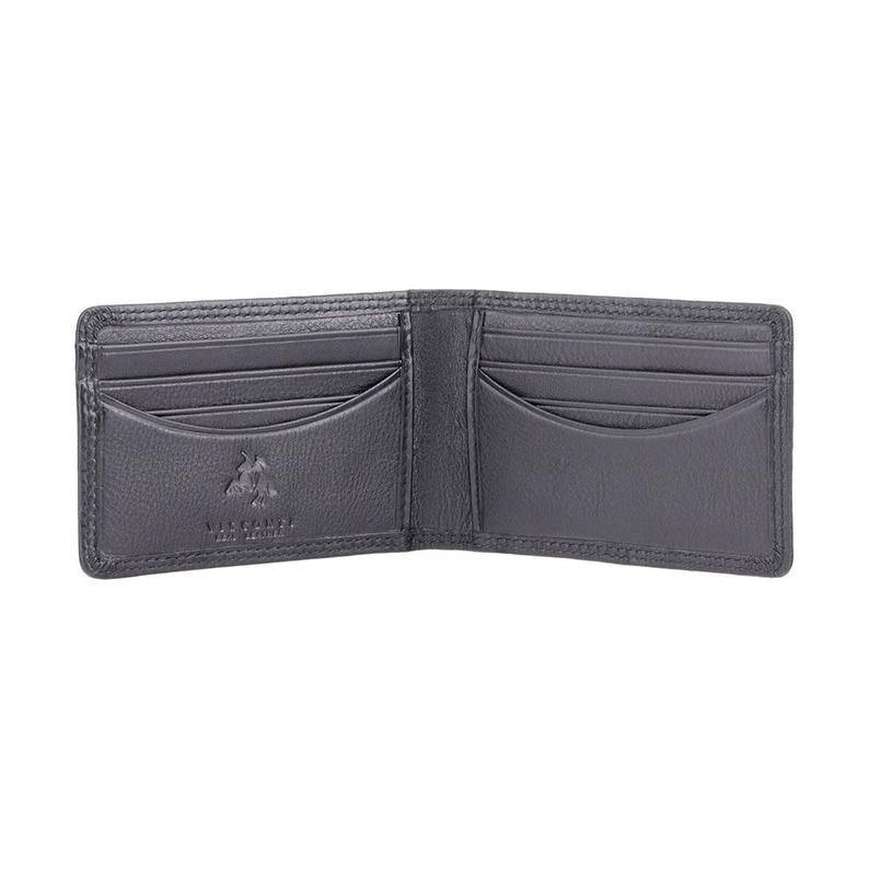 VISCONTI RFID Premium Small Leather Card Holder Wallet - Black - Mens Card Wallet - Leather Wallets for Men - HT5 - Gift Boxed