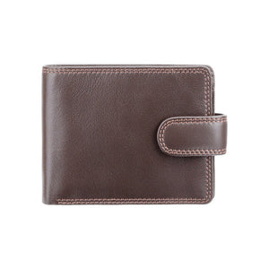 VISCONTI RFID Premium Leather - Chocolate - Cash and Coin Wallet - Large Leather Wallets for Men - HT10 - Gift Boxed