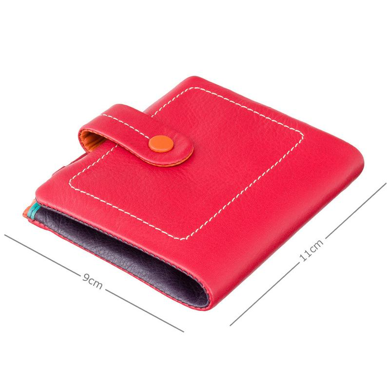 Designer Mimi Purse - Ladies Wallet - Red - Womens Wallets - Genuine Leather - Button Close Purse - M77 Mojito