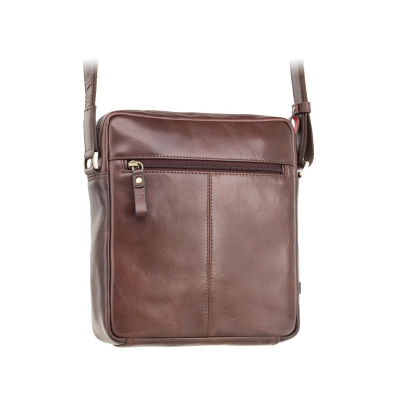 Medium Sized Leather Satchel - VISCONTI Merlin Messengers - Vesper A5 - Brown - Tablet Leather Bag - ML36
