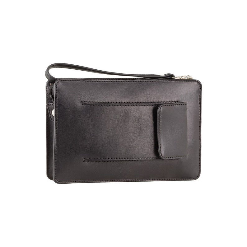 Mans Wrist Bag - VISCONTI Tuscan Business Cases - Ted - Black - Small Bag - Luxury Leather Bag - Wrist Bag - Mens Bag - Real Leather - 02617