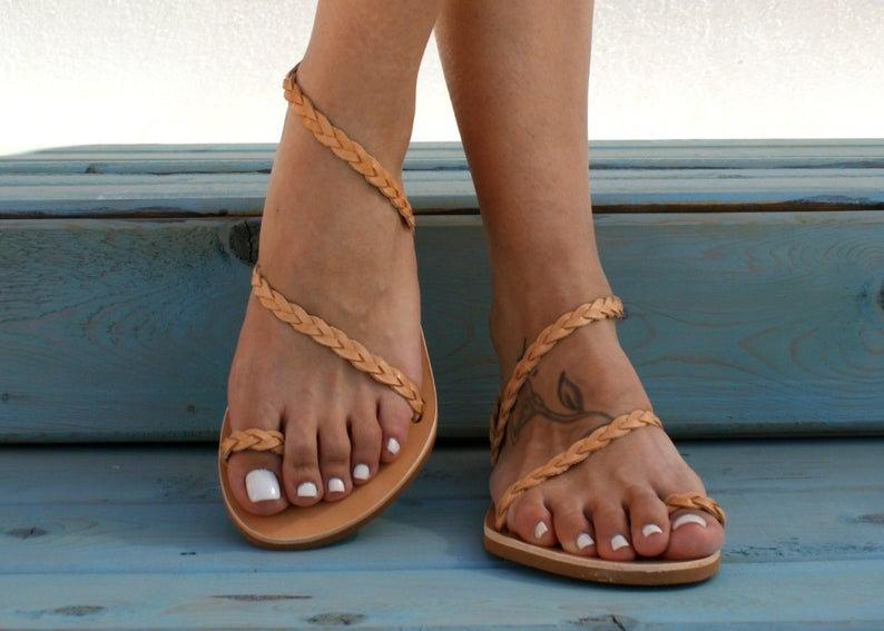 ATHENA  ancient Greek leather sandals