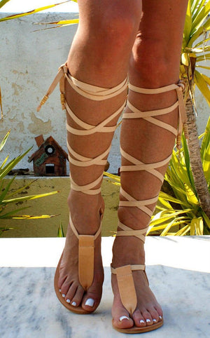 IRINI leather gladiator sandals