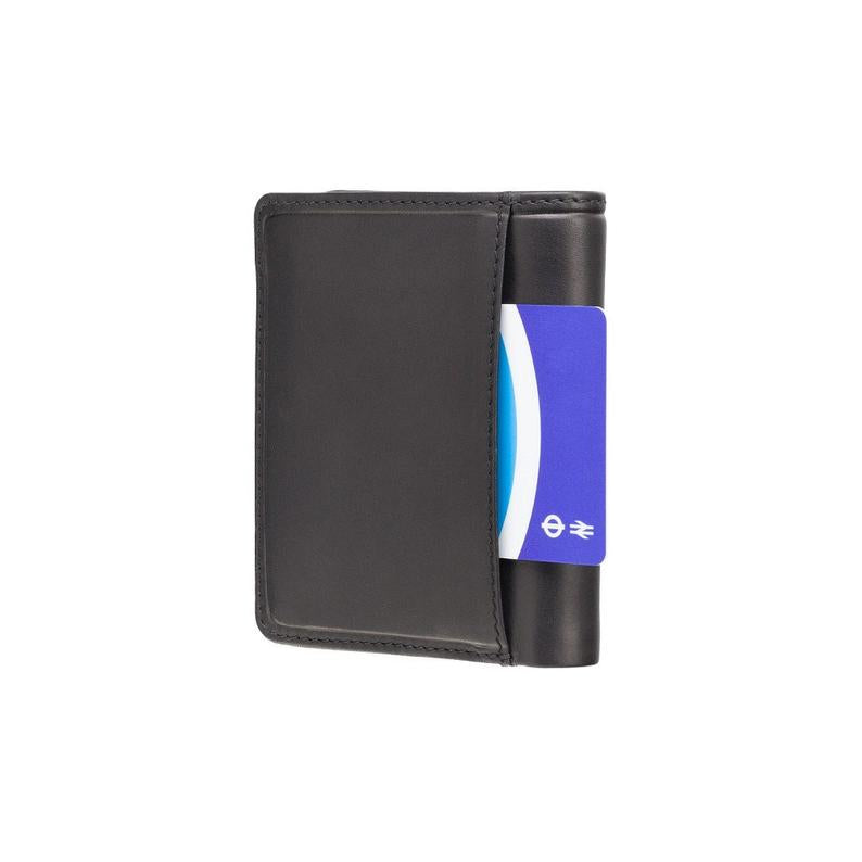 RFID Wallets - VISCONTI Leather Wallet - Black & Blue - Piana - PLR70 - Cash and Coin Holder - Card Case - Bi-Fold - Palermo - Man Wallet