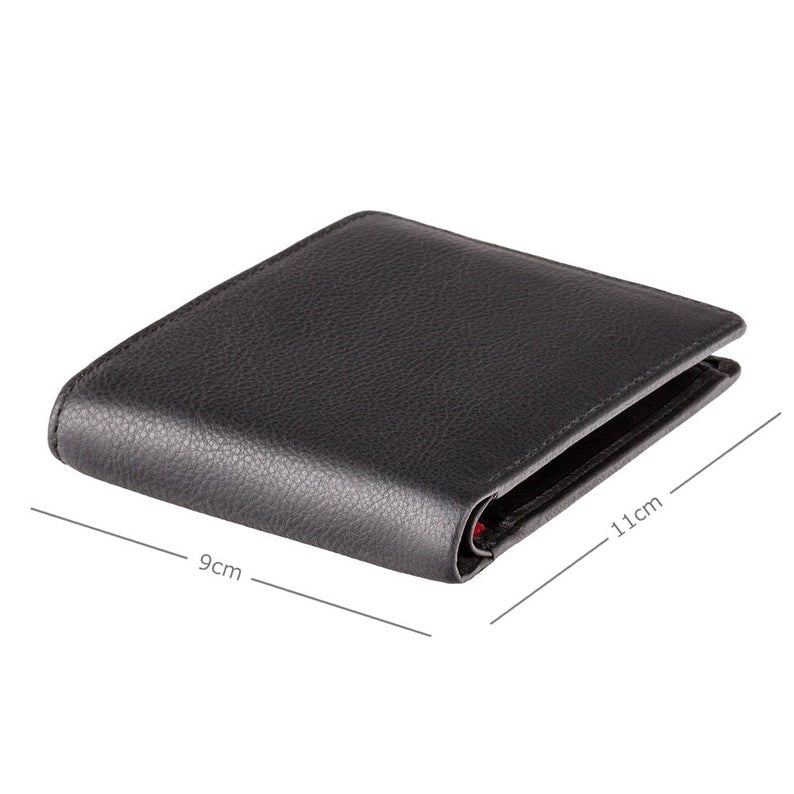 VISCONTI - RFID Black Red Orange - Mens Cash + Coin Leather Wallet - Leather Wallets for Men - BD10 - Gift Boxed - Bond Collection