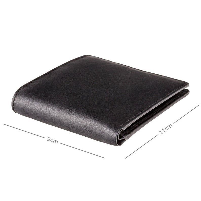 VISCONTI - RFID Black Blue Green - Mens Cash + Coin Leather Wallet - Leather Wallets for Men - BD707 - Gift Boxed - Bond Collection