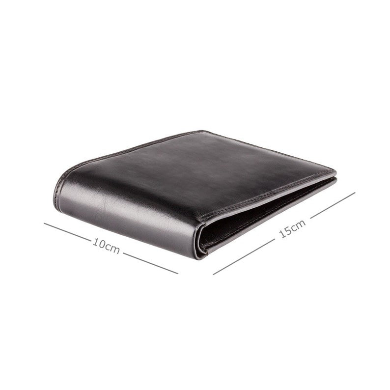 VISCONTI Italian Black Luxury Slim Leather Wallet with RFID - Cash and Card Wallet - Card Holder - Jacket Wallet - Mens Wallet - MZ9