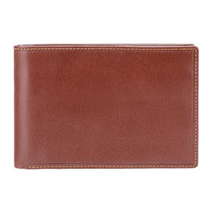 VISCONTI Italian Brown Luxury Slim Leather Wallet with RFID - Cash and Card Wallet - Card Holder - Jacket Wallet - Mens Wallet - MZ9