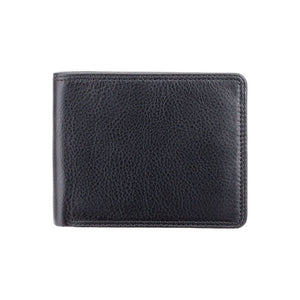 VISCONTI RFID Premium Leather Cash and Coin Wallet - Black - Mens Card Wallet - Leather Wallets for Men - HT7 - Gift Boxed