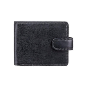 VISCONTI RFID Premium Leather - Black - Cash and Coin Wallet - Large Leather Wallets for Men - HT10 - Gift Boxed