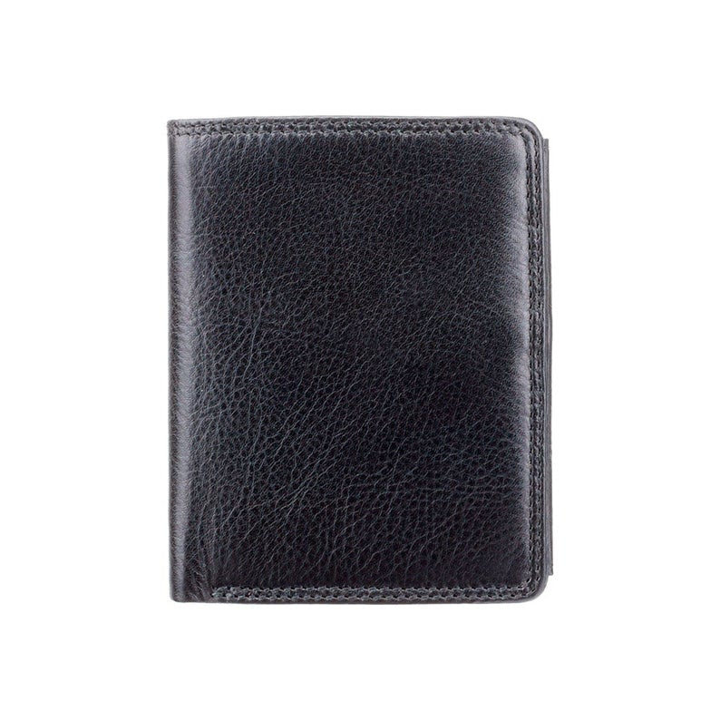 Men's Upright Leather Wallet - RFID Blocking Wallet - Note Case - Black - HT11 - Boxed - Best Seller