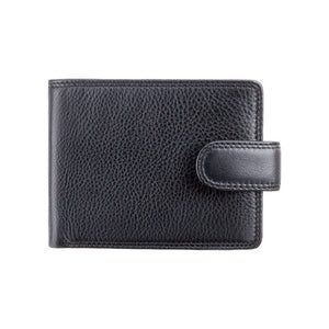 Mens Large Capacity Leather Wallet With RFID Blocking Technology - Black - HT13 - Gift Boxed - Best Seller