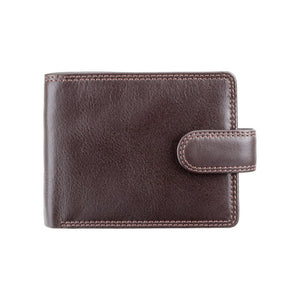 Mens Large Capacity Leather Wallet With RFID Blocking Technology - Chocolate Brown - HT13 - Gift Boxed - Best Seller