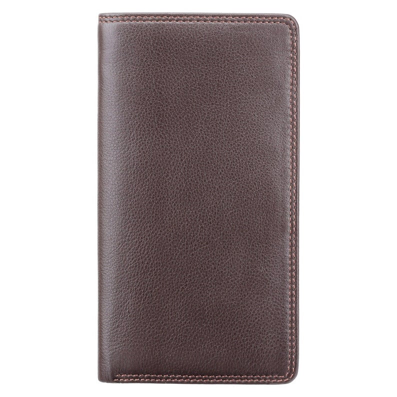 VISCONTI RFID Premium Leather - Chocolate - Cash and Coin Long Wallet - Jacket Wallet - Travel Wallets for Men - HT12 - Gift Boxed