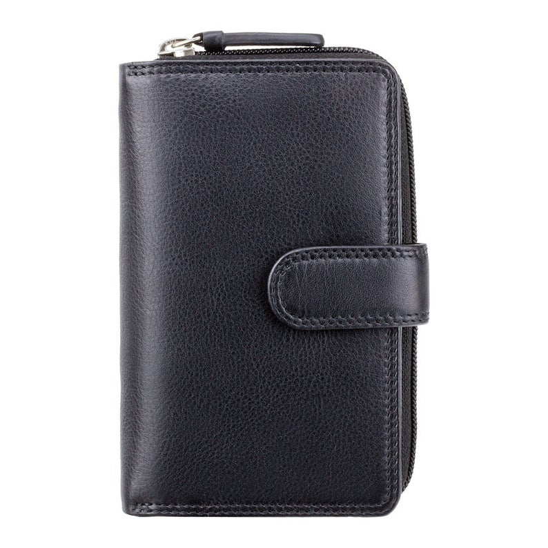 VISCONTI Best Selling RFID Purse - Black - Large Coin Purse With Card Holding Wallet - HT33