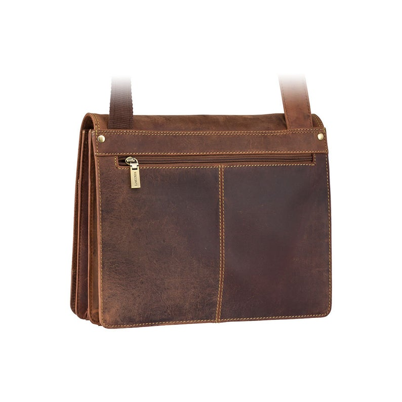 VISCONTI Harvard - 16025 - Tan Bag - Leather Bag - Messenger Bag - Distressed Leather Bag - Vintage Leather Bag - Man Bag