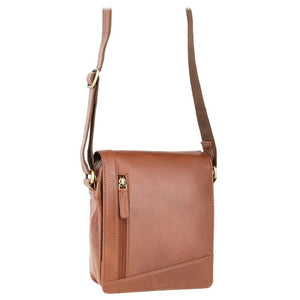 VISCONTI Sling Bags Collection - S7 - Tan - Leather Bag for Ladies - Unisex Leather Bag - Ladies Bag - Messenger Bag A5