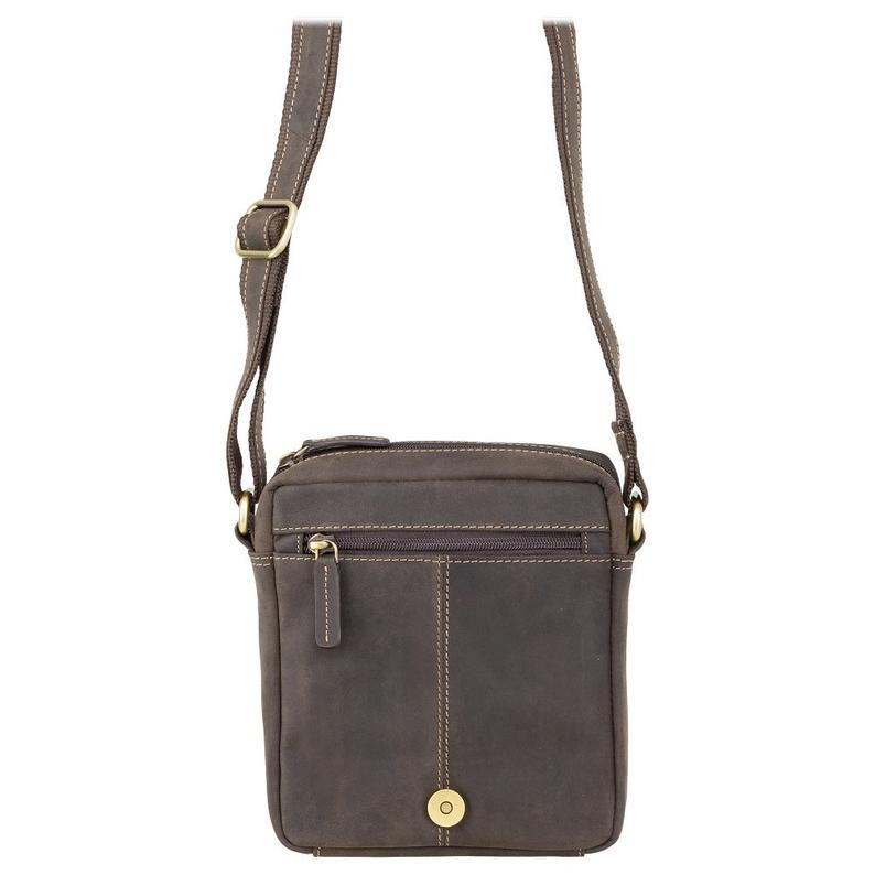 VISCONTI Sling Bags Collection - S7 - Oiled Brown - Leather Bag for Ladies - Unisex Leather Bag - Ladies Bag - Messenger Bag A5