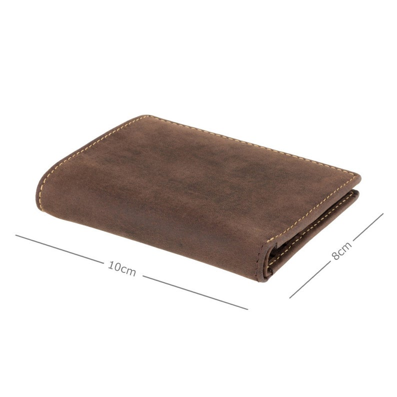 VISCONTI Leather Wallet - Oil Brown - Hunters Collection - Card Case - 705 - Bi-Fold - RFID Wallet - Small Wallet - Man wallet - Card Holder