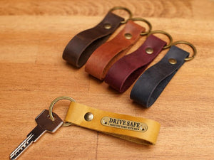 Personalized Keyring, Leather Key Chain, Custom Keychain for Women, Leather Keychains Accessories, Key Fob Leather, Bridesmaid Gift - United Split