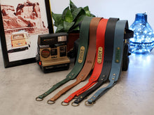 Load image into Gallery viewer, Camera Strap, Leather Personalized Camera Neck Strap, Durable Leather Camera Straps for DSLR, Mirrorless & Film Cameras, Travel Gift - United Split