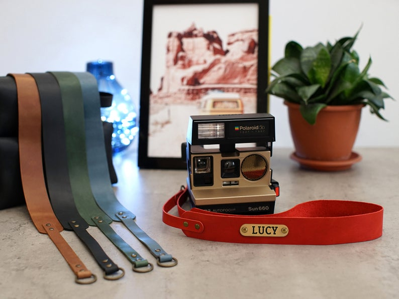 Camera Strap, Leather Personalized Camera Neck Strap, Durable Leather Camera Straps for DSLR, Mirrorless & Film Cameras, Travel Gift - United Split
