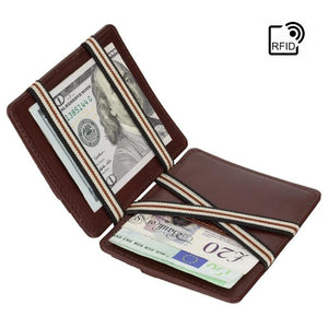 VISCONTI Magic Wallet - BrownMonza Leather - Magic - VSL38 - Leather Wallet - Men's RFID wallet